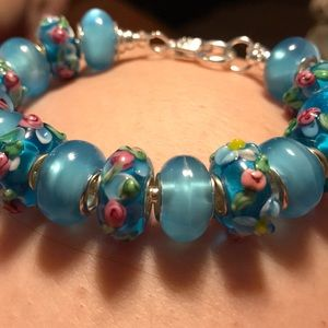 Jewelry - Murano beads on a sterling silver bracelet